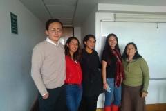 Luis Alberto Melo, Camila Cifuentes, Taís López, Daniela Alvarado y Sara Fonseca