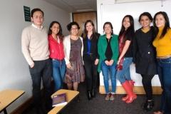 Luis Alberto Melo, Camila Cifuentes, Angélica María Pardo (docente), Ana Lucía Moncayo (docente), Marcela Olarte (docente), Daniela Alvarado, Taís López y Bibiana Sarmiento (docente)
